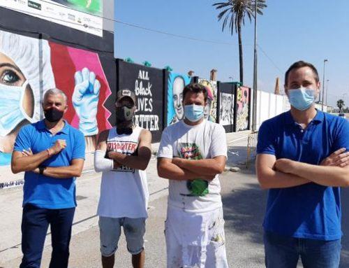 Un mural en Sacaba recuerda el valor de la superación